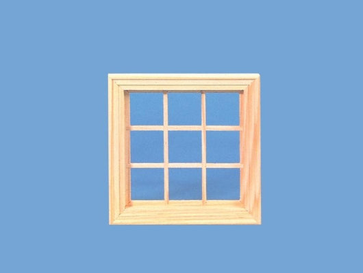 Wooden 9 Pane Window-Dollshouse Hampshire