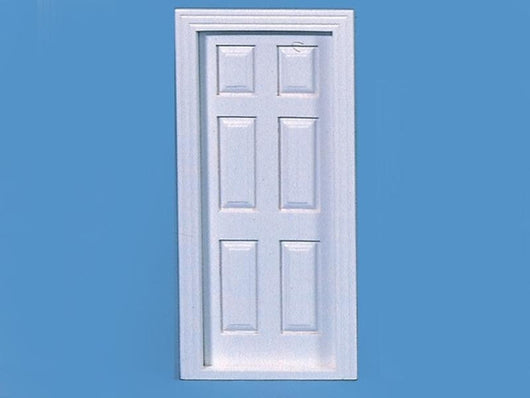 Wooden White Painted Door-Dollshouse Hampshire
