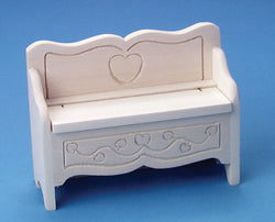 Bare Wood Storage Bench-Dollshouse Hampshire