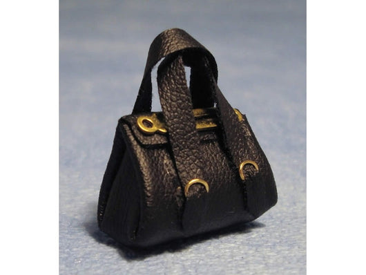 Black Handbag-Dollshouse Hampshire