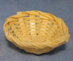 Basket Wicker Bowl. Each-Dollshouse Hampshire