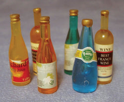 6 Assorted Bottles-Dollshouse Hampshire