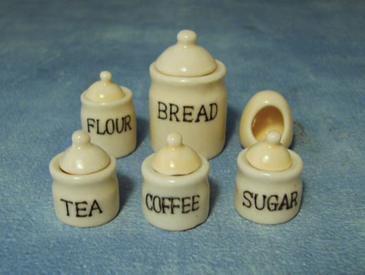 Kitchen Storage Jars-Dollshouse Hampshire