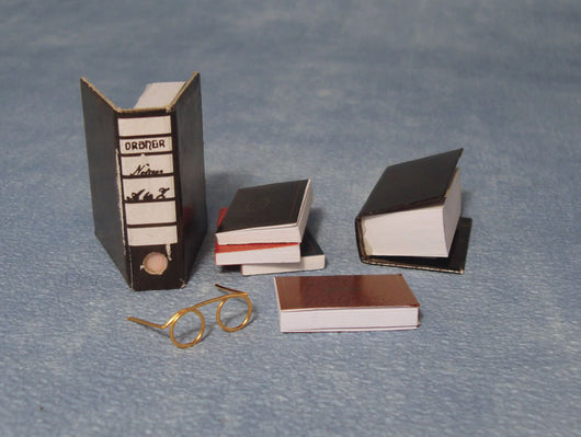 Assorted Books & Glasses-Dollshouse Hampshire