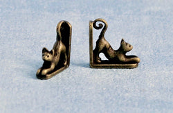 Cat Bookends-Dollshouse Hampshire