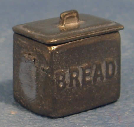 Pewter Bread Bin-Dollshouse Hampshire