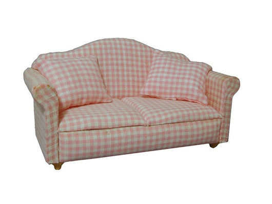 Pink Gingham Sofa-Dollshouse Hampshire