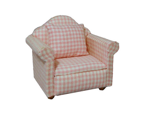 Pink Gingham Chair-Dollshouse Hampshire