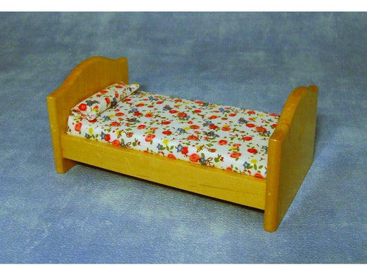 Small Pine Bed-Dollshouse Hampshire