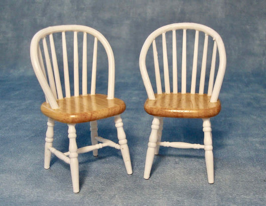 Set of 2 Kitchen Chairs-Dollshouse Hampshire