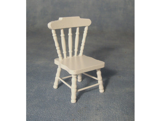 White Kitchen Chair-Dollshouse Hampshire
