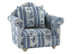 Blue & White Striped Chair-Dollshouse Hampshire