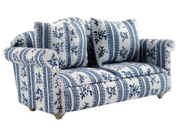 Blue & White Sofa-Dollshouse Hampshire