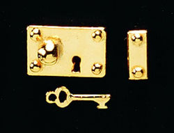 Brass Lock & Key-Dollshouse Hampshire