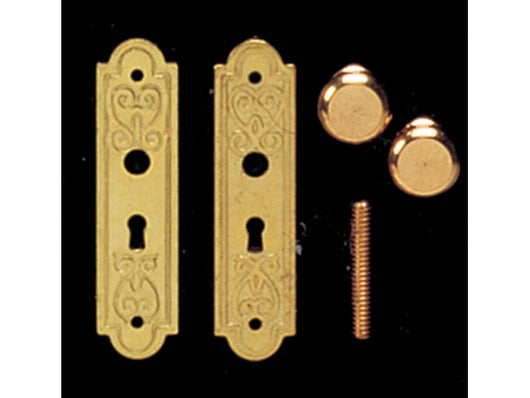 Doorhandles with Plates-Dollshouse Hampshire