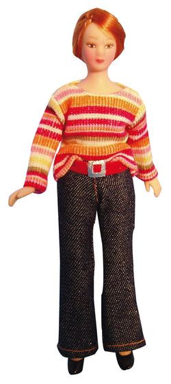 Lady in Stripped Jumper-Dollshouse Hampshire