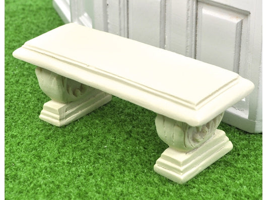 Cream Bench-Dollshouse Hampshire