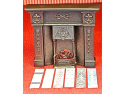 Large Cast Fireplace, with a choice of tiles.-Dollshouse Hampshire