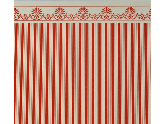 Wallpaper Majestic Red & Cream-Dollshouse Hampshire