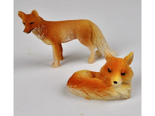 Standing & Sitting Foxes-Dollshouse Hampshire