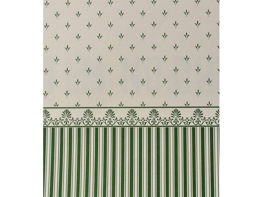 Wallpaper Grosvenor Green on Cream-Dollshouse Hampshire