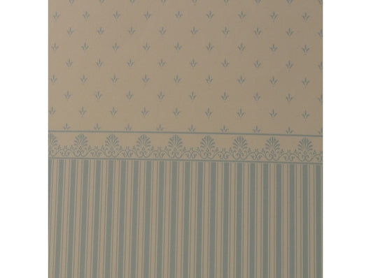 Wallpaper Grosvenor Aqua on Cream-Dollshouse Hampshire