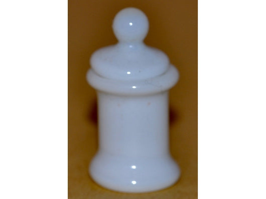 White Glass Pot & Lid-Dollshouse Hampshire