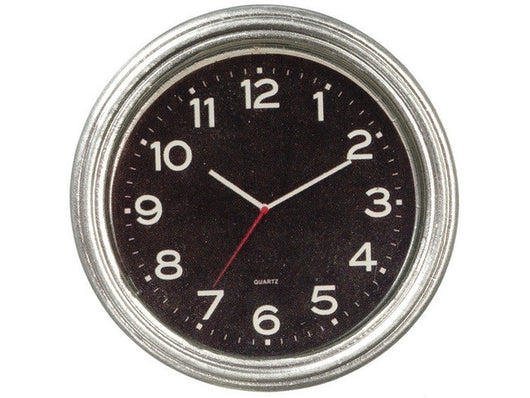 Silver Wall Clock-Dollshouse Hampshire