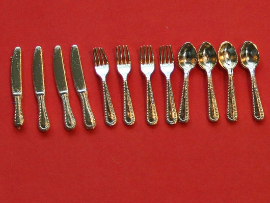 Gold Cutlery-Dollshouse Hampshire