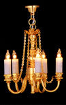 5 Arm Candle Chandelier-Dollshouse Hampshire