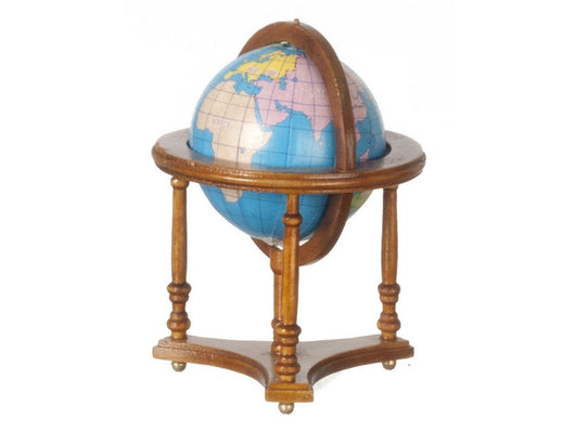 Walnut Globe-Dollshouse Hampshire