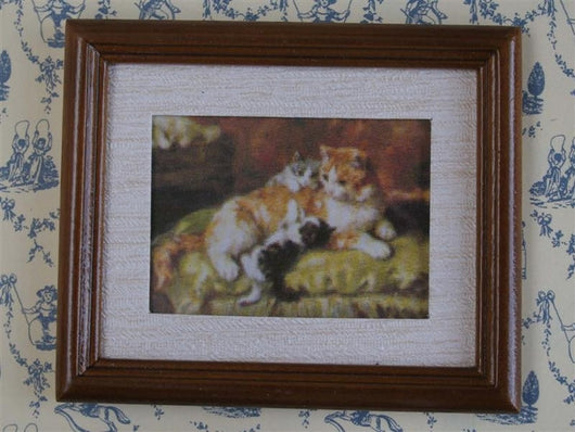 Cat & Kittens Picture-Dollshouse Hampshire