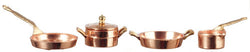 Copper & Brass Pans-Dollshouse Hampshire
