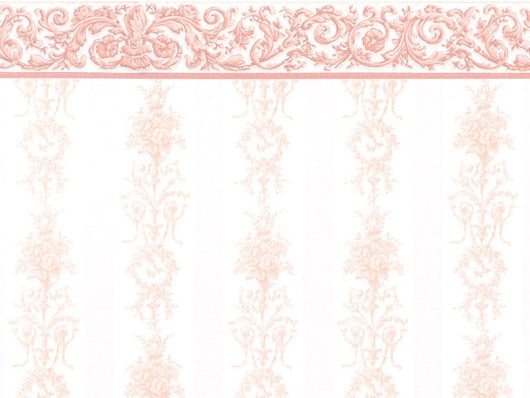 Wallpaper Symphony Stripe Pink-Dollshouse Hampshire