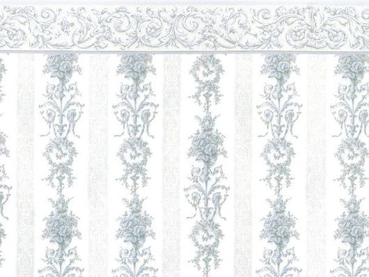 Wallpaper Symphony Stripe Blue-Dollshouse Hampshire
