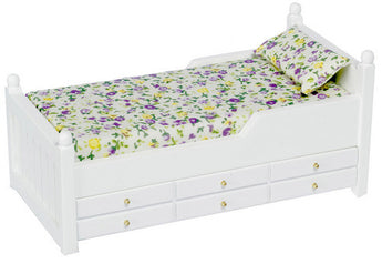 White Trundle Bed-Dollshouse Hampshire