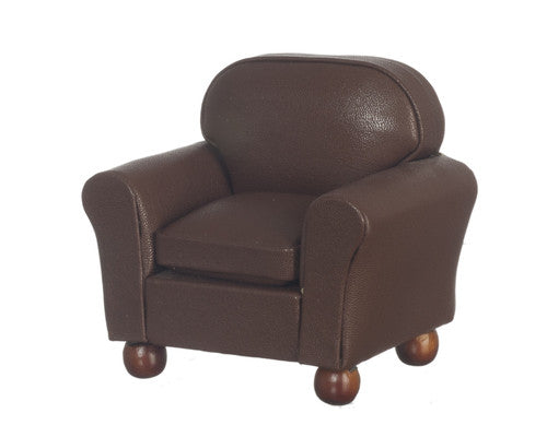 Brown Armchair-Dollshouse Hampshire