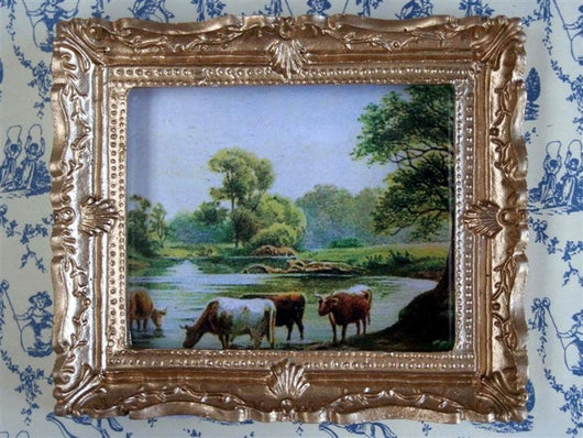 Grazing Cattle Picture-Dollshouse Hampshire