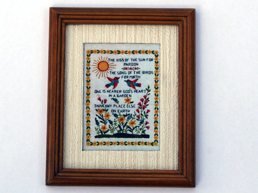 Framed Sampler Picture-Dollshouse Hampshire