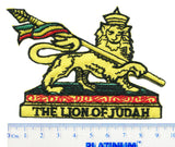 Lion of Judah Rasta Reggae Patch 9cm
