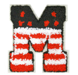 "Large Chenille USA American Letter ""M"" Patch 8.5cm - Mary - Mike - Matt - Matthew - Michelle"