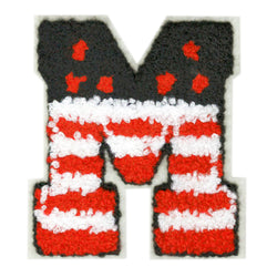 Large Chenille USA American Letter