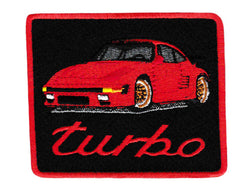 Vintage Style Sports Car Iron On Patch 8.5cm