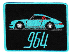 Vintage Style Sports Car Iron On Patch 8.5cm Applique