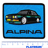 Vintage Style BMW e28 Alpina Iron On Patch 8.5cm