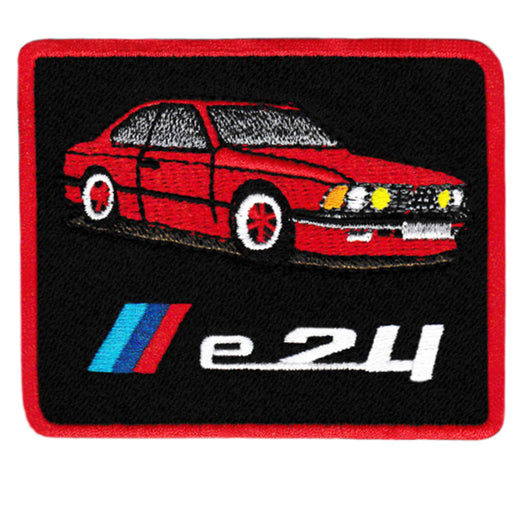Vintage Style BMW e24 M6 Iron On Patch 8.5cm