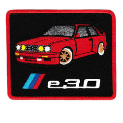 Vintage Style BMW e30 M3  Iron On Patch 8.5cm