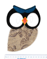 XXL Extra Large Owl Patch 21cm Applique