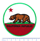 Cool Vintage Style 70's 80's California Republic Iron On Patch 8cm Applique