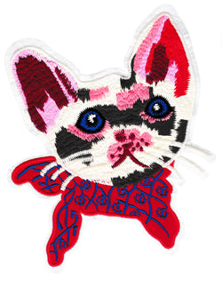 XXL Extra Large Beautiful Kitty Cat Patch 22cm Applique